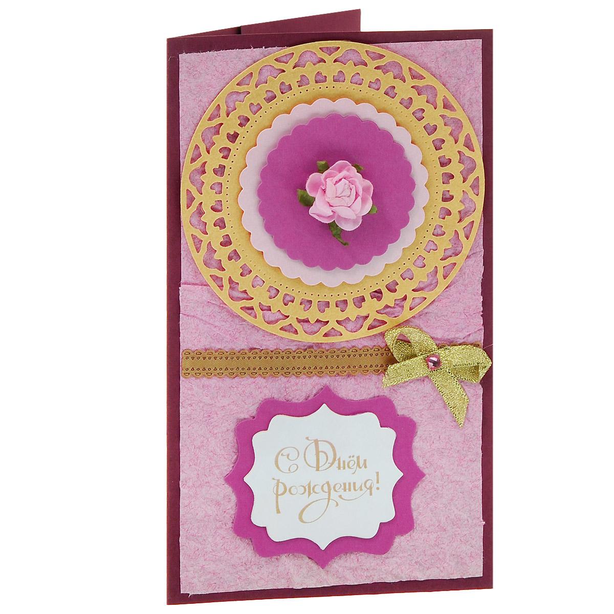 "Студия ""Тётя Роза"" ОЖ-0010 Открытка-конверт «С Днём Рождения!». Студия «Тётя Роза»"