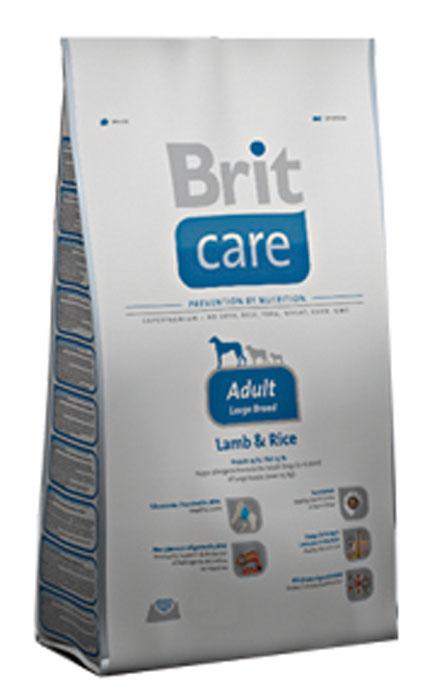 Корм сухой Brit Care Adult Large Breed для собак крупных пород, с ягненком и рисом, 1 кг100403Сухой корм Brit Care Adult Large Breed - это полноценный рацион для собак крупных пород. Оптимальное соотношение Омега-3 и Омега-6 жирных кислот с органическим цинком и медью обеспечивает здоровое состояние кожи и улучшает качество шерсти. Состав: баранина, рис, куриный жир (консервированный при помощи токоферолов), жир лосося, натуральные ароматы, хлопья риса, сушеная мякоть репы, пивные дрожжи, сушеные яичные продукты, экстракт из юкки шидигеры, сушеные яблоки, минералы, глюкозоамин гидрохлорид, сульфат хондроитина, ДЛ-метионин, Л-лизин, олигосахарид маннана, фрукто-олигосахариды, сульфат пентогидрат меди, ниацин, кальций пантотенат, фолиевая кислота, хлорид холина, биотин, витамин А, витамин Д3, витамин Е. Аналитические составляющие: белки 25 %, жиры 13 %, влажность 10 %, сырая зола 6,5 %, клетчатка 2,5 %, кальций 1,5 %, фосфор 1 %. Добавки на кг: витамин А: 20000; витамин D3: 1500; витамин Е: 500 мг/кг; железо: 80; йод: 0,65; медь: 20. ...