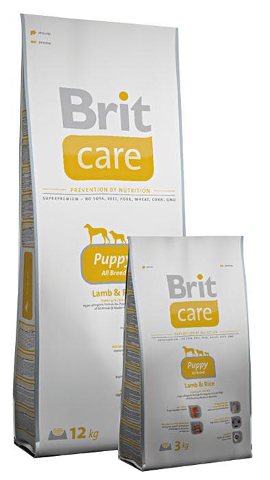 Корм сухой Brit Care Puppy All Breed для щенков всех пород, с ягненком и рисом, 12 кг100802Сухой корм Brit Care Puppy All Breed - сбалансированный, легкоусвояемый особый корм, соответствующий специальным потребностям щенков в период роста. Гипоаллергенная формула подходит для щенков всех пород (4 недели - 12 месяцев). Рекомендуется также беременным и кормящим собакам. Особенности: - Поддерживает рост скелета и защищает хрящи. Соотношение кальция и фосфора, высокое содержание глюкозоамина и хондроитина. - Умственные способности и здоровая нервная система. Кислоты EPA и DHA поддерживают мозговую деятельность и оказывают благоприятное влияние на систему органов чувств. - Защита кишечника и печени, контроль запаха. Экстракт юкки защищает кишечник и печень от токсичности аммиака и предотвращает разложение гемоглобина. - Высокое содержание протеинов. Оптимальное соотношение аминокислот (идеальный протеин) обеспечивает высокую усвояемость белков для мышечной ткани. - Поддержка иммунитета и охрана здоровья. MOS (маннаноолигосахариды)...