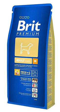 Корм сухой Brit Premium Adult M для взрослых собак средних пород, с курицей и травами, 3 кг132324Сухой корм Brit Premium Adult M - полнорационный корм для взрослых собак средних пород (10-25 кг). Рекомендуется для следующих пород: австралийская овчарка, басенджи, бассет-хаунд, бигль, бордер колли, бретань, бультерьер, кокер-спаниель, колли, английский бульдог, английский спрингер-спаниель, финская гончая, французский бульдог, немецкий пинчер, норвежская серая лосиная лайка, польская охотничья собака, пули, пудель, самоедская собака, шнауцер, шарпей, сиба-ину, испанская водяная собака, стаффордширский бультерьер, вельш-корги. Состав: мука из мяса курицы (41%), кукуруза, пшеница, рис, куриный жир (консервированный токоферолами), масло лосося, пивные дрожжи, натуральные ароматизаторы, сушеные яблоки, минеральные вещества, экстракт из трав и фруктов (300 мг/кг), мананоолигосахариды (150 мг/кг), фруктоолигосахариды (100 мг/кг), экстракт юкки шидигеры (80 мг/кг), органическая Е4 медь, органический Е6 цинк, органический селен. Аналитические...