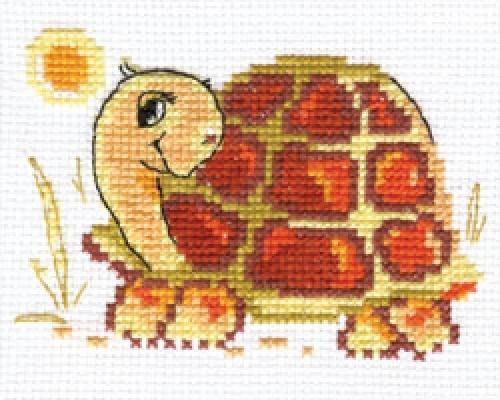 Набор для вышивания крестом Алиса Черепашка, 10 см х 7 см661093Набор для вышивания крестиком Алиса Черепашка позволит вам создать собственными руками красивую картинку. Набор включает в себя все материалы, необходимые для работы: - канва Aida Gamma (19 см х 16 см); - нитки-мулине Gamma (9 цветов); - цветная схема; - игла Gamma; - инструкция. Красивый и стильный рисунок-вышивка выглядит оригинально и всегда модно. Работа, сделанная своими руками, создаст особый уют и атмосферу в доме, и долгие годы будет радовать ваших близких.
