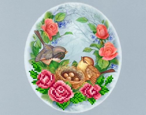 Набор для вышивания бисером Птички, с паспарту, 20,5 см х 30 см697929Набор для вышивания бисером Птички поможет отвлечься от повседневных дел и окунуться в мир творчества. Работа, сделанная своими руками, станет отличным подарком для друзей и близких! В состав набора входит: - шелковая ткань с нанесенным рисунком (размер ткани 24 см x 26 см; размер рисунка 13 см х 15 см), - бисер (6 цветов), - нить для пришива бисера, - игла для бисера, - инструкция, - паспарту А4 с овальным вырезом (20,5 см х 30 см).