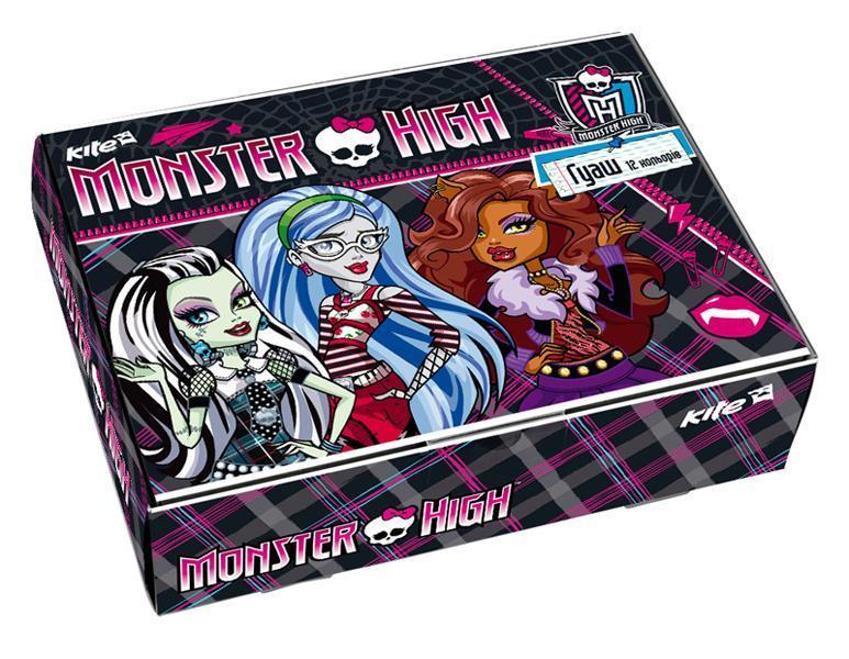 Гуашь Monster high-12 цветная 85076