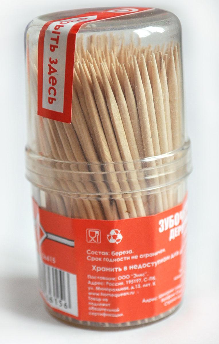 Зубочистки деревянные Home Queen, 6,5 см, 180 шт56615Зубочистки Home Queen используются для очистки межзубных промежутков и боковых поверхностей зубов. Сегодня зубочистки предлагаются во всех учреждениях общественного питания от скромных кафе до фешенебельных ресторанов. Наиболее полезны для зубов зубочистки из натурального природного материала - дерева. Зубочистки Home Queen соответствуют этому требованию, так как изготовлены из древесины березы. Изделия упакованы в компактную пластиковую банку с откручивающейся крышкой. Длина зубочистки: 6,5 см. Комплектация: 180 шт.