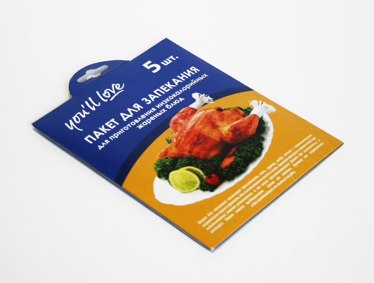 Пакеты для запекания Youll love, с зажимами, 30 х 40 см, 5 шт57251Пакеты для запекания Youll love позволяют приготовить мясо, курицу, овощи с максимальным сохранением вкуса и аромата, без масла и жира. Аромат приправ и пряностей при использовании пакета усиливается, а от вкуса приготовленного блюда вы останетесь в восторге. Пакеты предохраняют кухню от запахов и духовку от загрязнений. Пакеты имеют удобные, термостойкие зажимы.