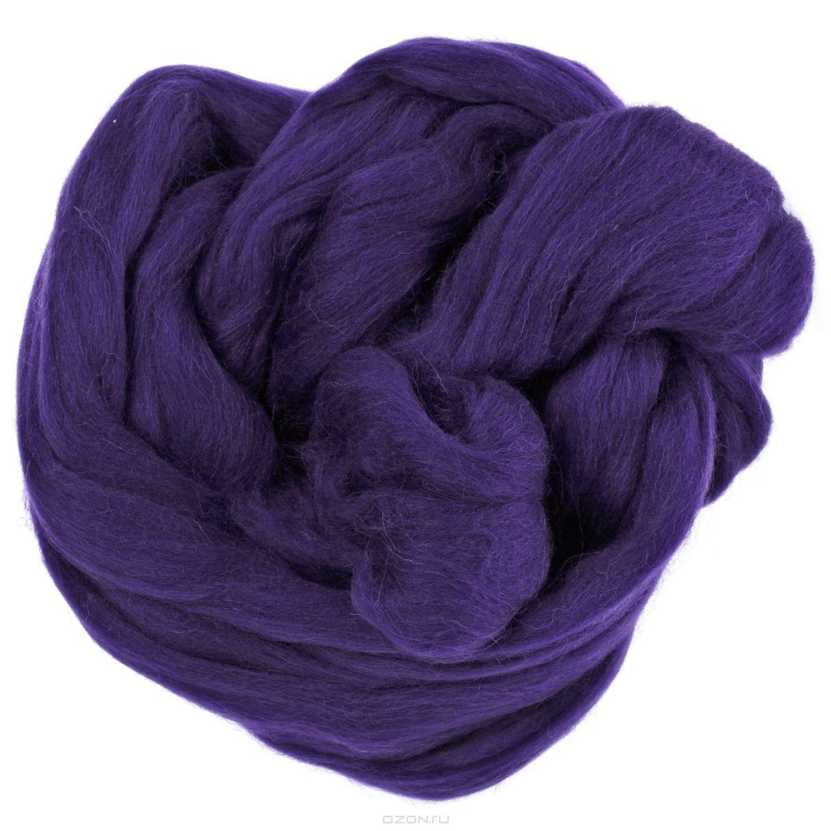 Шерсть для валяния Астра, тонкая, цвет: фиолетовый (0262), 50 г679103_0262