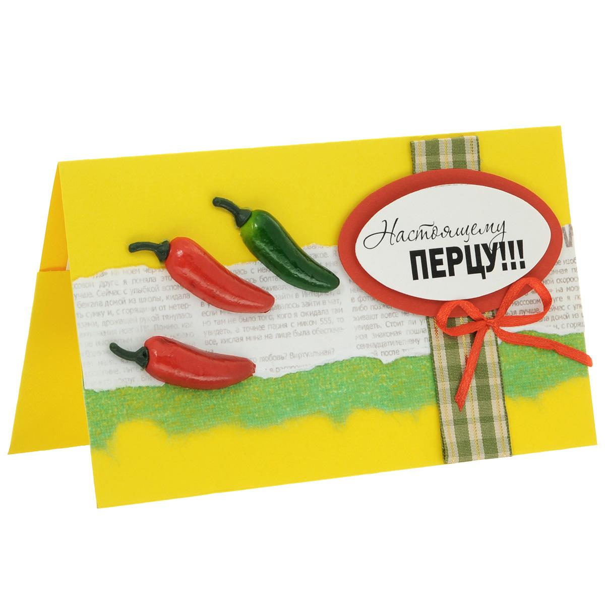 """Студия """"Тётя Роза"""" ОМ-0003 Открытка-конверт «Настоящему перцу!». Студия «Тётя Роза»"""