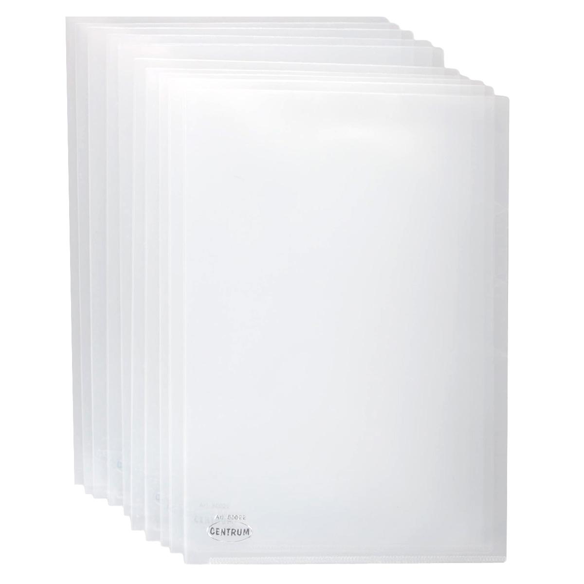 Папка-уголок Сentrum, 3 отделения, цвет: прозрачный. Формат А4, 10 шт80022_ прозрачныйПапка-уголок Centrum - это удобный и практичный офисный инструмент, предназначенный для хранения и транспортировки рабочих бумаг и документов формата А4. Папка изготовлена из прозрачного глянцевого пластика, имеет три отделения с индексами-табуляторами. В комплект входят 10 папок формата А4. Папка-уголок - это незаменимый атрибут для студента, школьника, офисного работника. Такая папка надежно сохранит ваши документы и сбережет их от повреждений, пыли и влаги.