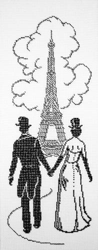 Набор для вышивания крестом У Эйфелевой башни, 15 х 42 см 6004 explay для explay onyx