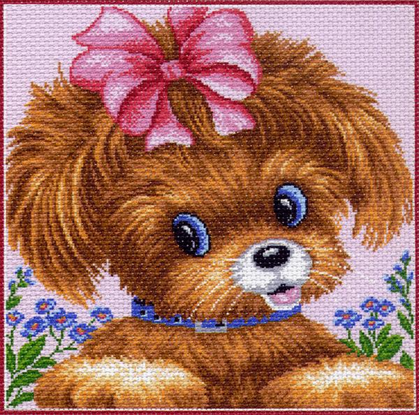 Набор для вышивания крестом Подушка. Собачка, 34 см х 34 см. 1087176868Набор для вышивания крестом Подушка. Собачка поможет вам создать свой личный шедевр - красивую картину, вышитую нитками мулине в технике счетный крест. Работа, выполненная своими руками, станет отличным подарком для друзей и близких! Набор содержит: - канва №5,5 (хлопок) с нанесенным цветным рисунком, размер канвы 41 см х 41 см, - мулине (100% хлопок), - игла, - инструкция на русском языке.