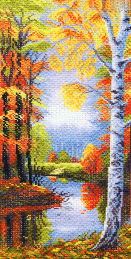 Набор для вышивания крестом Осеннее утро, 16 см х 38 см. 1081176863Набор для вышивания крестом Осеннее утро поможет вам создать свой личный шедевр - красивую картину, вышитую нитками мулине в технике счетный крест. Работа, выполненная своими руками, станет отличным подарком для друзей и близких! Набор содержит: - канва №5,5 (хлопок) с нанесенным цветным рисунком, размер канвы 24 см х 47 см, - мулине (100% хлопок), - игла, - инструкция на русском языке.