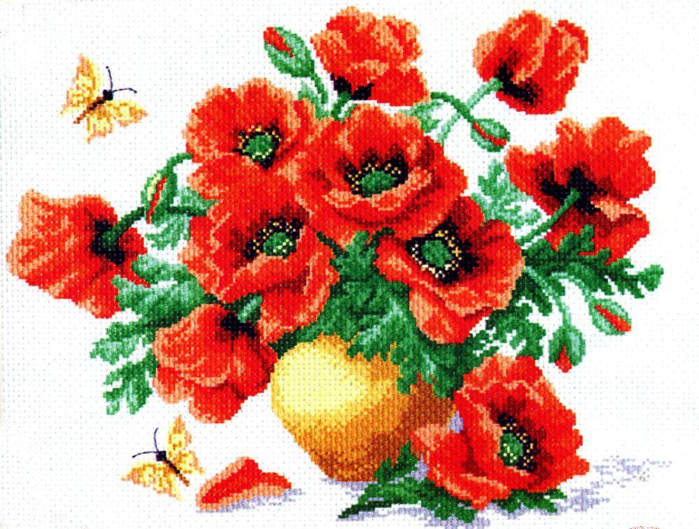 Набор для вышивания крестом Маки, 26 х 33 см 523176853Набор для вышивания крестом Маки поможет вам создать свой личный шедевр - красивую картину, вышитую нитками мулине в технике счетный крест. Работа, выполненная своими руками, станет отличным подарком для друзей и близких! Набор содержит: - канва №5,5 (хлопок) с нанесенным цветным рисунком, размер канвы 37 см х 49 см, - мулине (100% хлопок), - игла, - инструкция на русском языке.