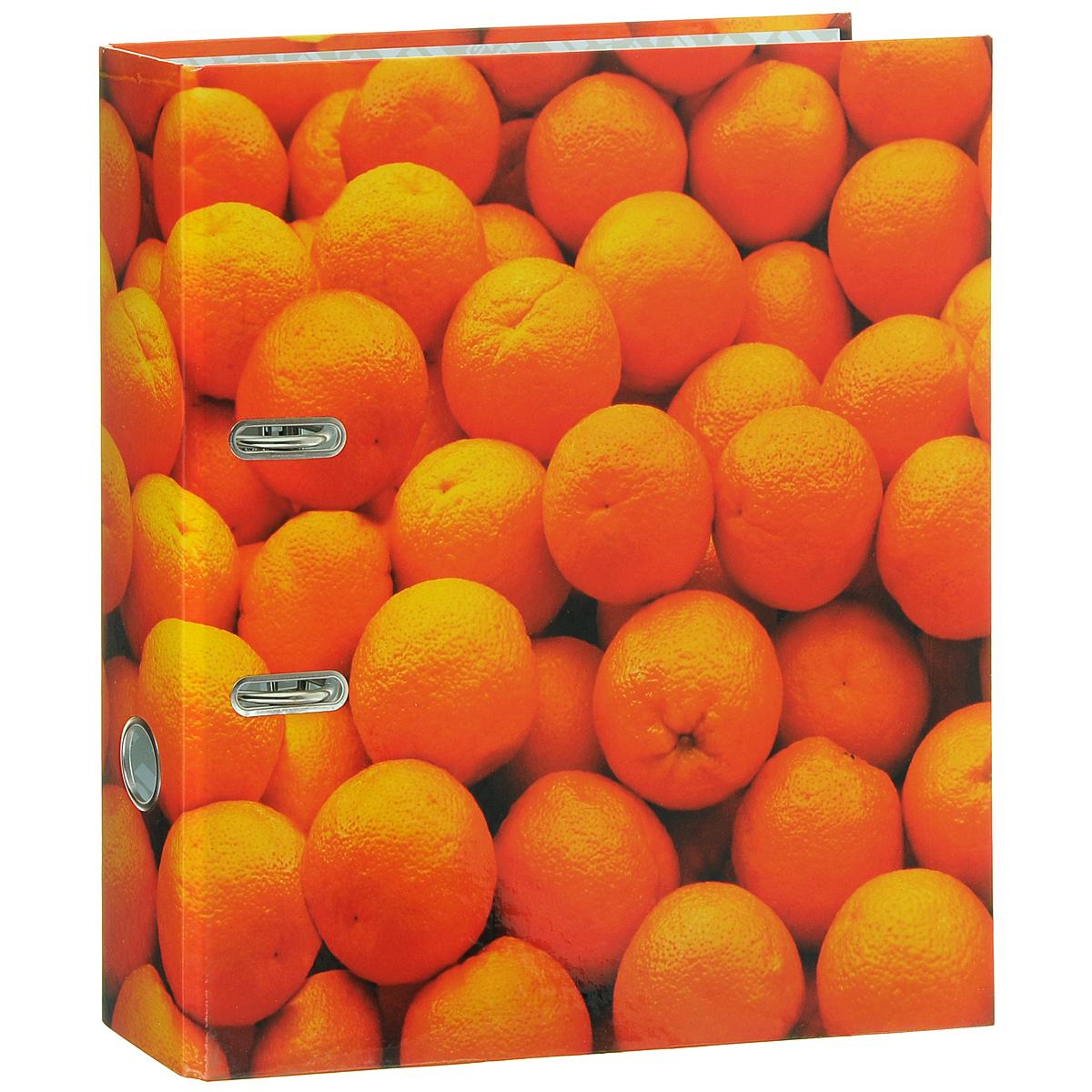 Папка-регистратор Index Апельсин, ширина корешка 80 мм, цвет: оранжевыйIN111102Папка-регистратор Index Апельсин незаменима для работы с большими объемами бумаг дома и в офисе. Папка изготовлена из износостойкого высококачественного картона толщиной 2 мм, имеет ламинацию как снаружи, так и внутри. Папка оснащена прочным металлическим арочным механизмом, обеспечивающим надежную фиксацию перфорированных бумаг и документов формата А4. Для папки используется фурнитура только европейского производства. На торце папки расположено металлическое кольцо для удобства использования. Обложка папки оформлена красочным изображением спелых апельсинов. Папка-регистратор станет вашим надежным помощником, она упростит работу с бумагами и документами и защитит их от повреждения, пыли и влаги.