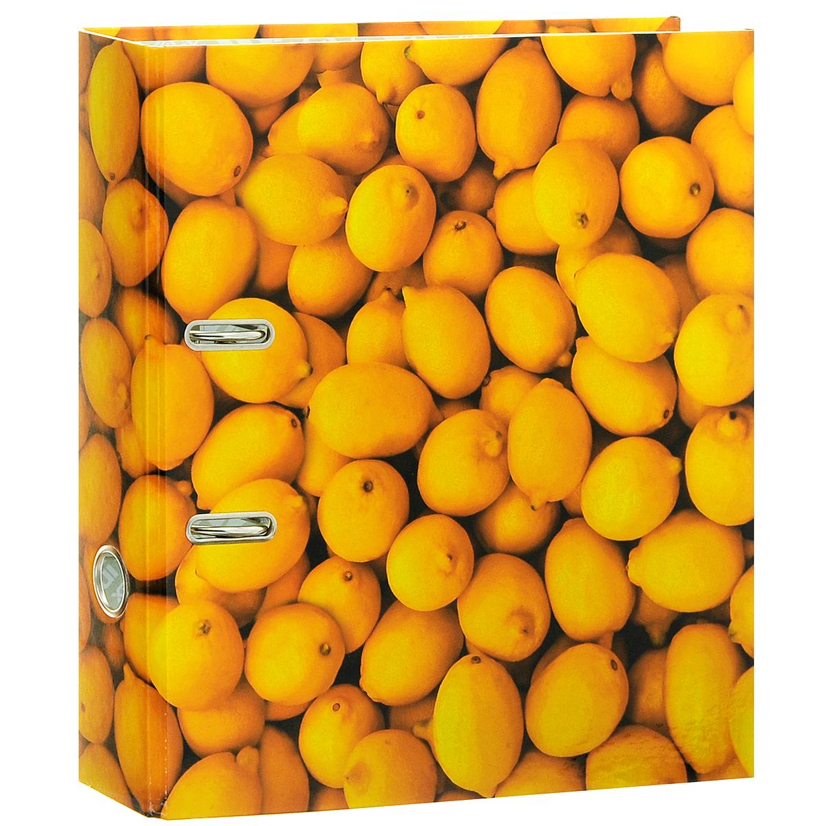 Папка-регистратор Index Лимон, ширина корешка 80 мм, цвет: желтыйIN111106Папка-регистратор Index Лимон незаменима для работы с большими объемами бумаг дома и в офисе. Папка изготовлена из износостойкого высококачественного картона толщиной 2 мм, имеет ламинацию как снаружи, так и внутри. Папка оснащена прочным металлическим арочным механизмом, обеспечивающим надежную фиксацию перфорированных бумаг и документов формата А4. Для папки используется фурнитура только европейского производства. На торце папки расположено металлическое кольцо для удобства использования. Обложка папки оформлена красочным изображением спелых лимонов. Папка-регистратор станет вашим надежным помощником, она упростит работу с бумагами и документами и защитит их от повреждения, пыли и влаги.