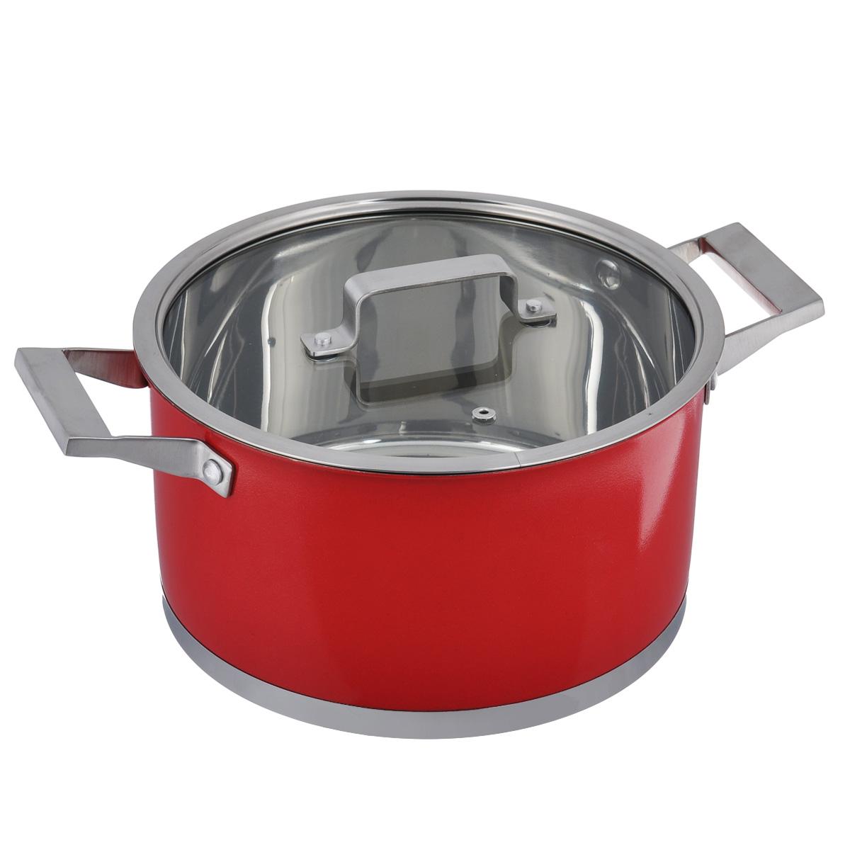 Кастрюля Bohmann с крышкой, цвет: красный, 6,1 л2724BHNEWКастрюля Bohmann изготовлена из высококачественной нержавеющей стали. Внутренняя поверхность имеет зеркальную полировку, а внешняя - матовое покрытие красного цвета. Нержавеющая сталь обладает высокой стойкостью к коррозии и кислотам. Прочность, долговечность и надежность этого материала, а также первоклассная обработка обеспечивают практически неограниченный запас прочности и неизменно привлекательный внешний вид. Кастрюля имеет многослойное капсульное дно с алюминиевым основанием, которое быстро и равномерно накапливает тепло и так же равномерно передает его пище. Капсульное дно позволяет готовить блюда с минимальным количеством воды и жира, сохраняя при этом вкусовые и питательные свойства продуктов. Применение технологии многослойного дна создает эффект удержания тепла - пища готовится и после отключения плиты благодаря термоаккумулирующим свойствам посуды. Диаметры изделий соответствуют общепринятым размерам конфорок бытовых плит. Посуда оснащена удобными...