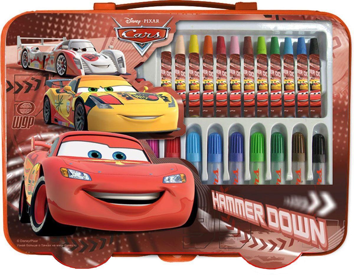 Набор для творчества. (30 предметов). Cars4603008184664Канцелярский набор Cars Академия Групп - это замечательный набор из 30 предметов в стиле мультфильма Тачки. Он состоит из различных фломастеров и мелков. Все предметы сделаны с изображением героев диснеевского мультфильма и упакованы в подарочный кейс