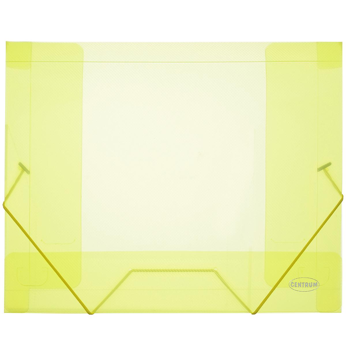 Папка-конверт на резинке Centrum, цвет: желтый. Формат А480019Ж