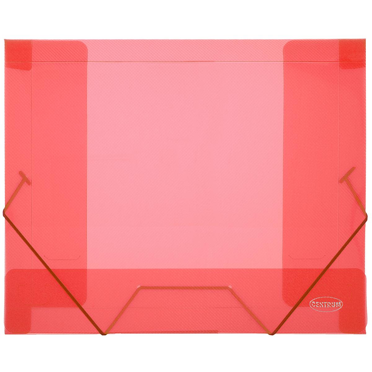 Centrum Папка-конверт на резинке цвет красный 80020Р80020РПапка-конверт на резинке Centrum - это удобный и функциональный офисный инструмент, предназначенный для хранения и транспортировки рабочих бумаг и документов формата А4. Папка с двойной угловой фиксацией резиновой лентой изготовлена из износостойкого полупрозрачного полипропилена. Внутри папка имеет три клапана, что обеспечивает надежную фиксацию бумаг и документов. Оформлена тиснением в виде параллельной штриховки. Папка - это незаменимый атрибут для студента, школьника, офисного работника. Такая папка надежно сохранит ваши документы и сбережет их от повреждений, пыли и влаги.