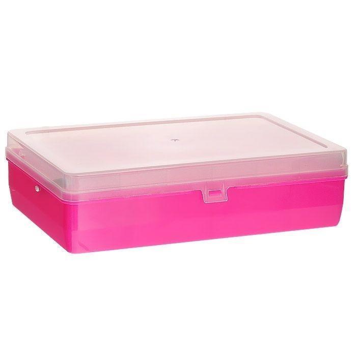 Коробка для мелочей Trivol, двухъярусная, с микролифтом, цвет: розовый, 23,5 х 15 х 6 см525825Двухъярусная коробка для мелочей Trivol изготовлена из высококачественного пластика. Прозрачная крышка позволяет видеть содержимое коробки. Изделие имеет два яруса. Верхний ярус представляет собой выдвижное отделение, в котором содержится 6 прямоугольных ячеек. Нижний ярус имеет 3 ячейки разного размера. Коробка прекрасно подойдет для хранения швейных принадлежностей, рыболовных снастей, мелких деталей и других бытовых мелочей. Удобный и надежный замок-защелка обеспечивает надежное закрывание крышки. Коробка легко моется и чистится. Такая коробка поможет держать вещи в порядке. Размер самой маленькой ячейки: 3,5 см х 10 см х 1,7 см. Размер самой большой ячейки: 13 см х 14,5 см х 5 см.