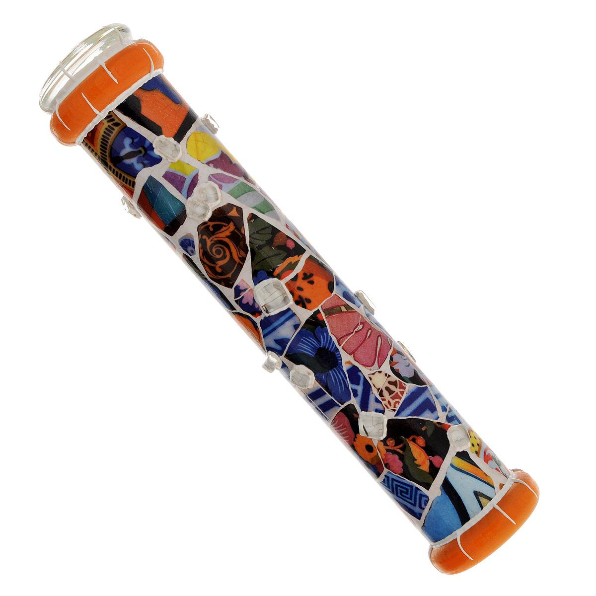 """Красивое стекло Калейдоскоп """"Мозаика Барселоны"""", цвет: синий, белый, оранжевый а609"""