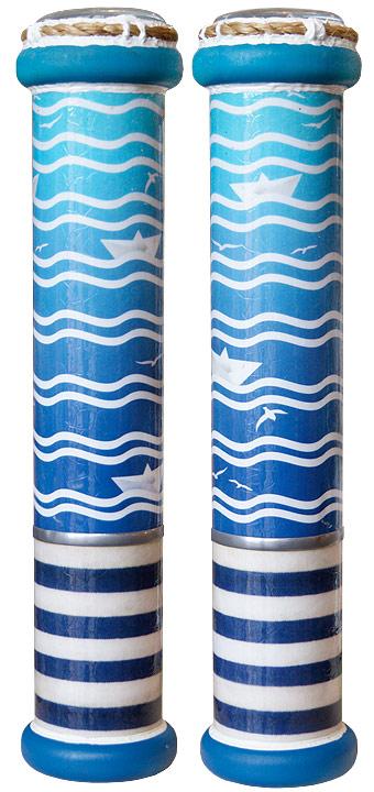 """Красивое стекло Калейдоскоп """"Морской"""", цвет: голубой, синий а037"""