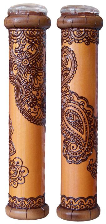 """Калейдоскоп """"Михенди"""", цвет: оранжевый, коричневый Красивое стекло а316"""
