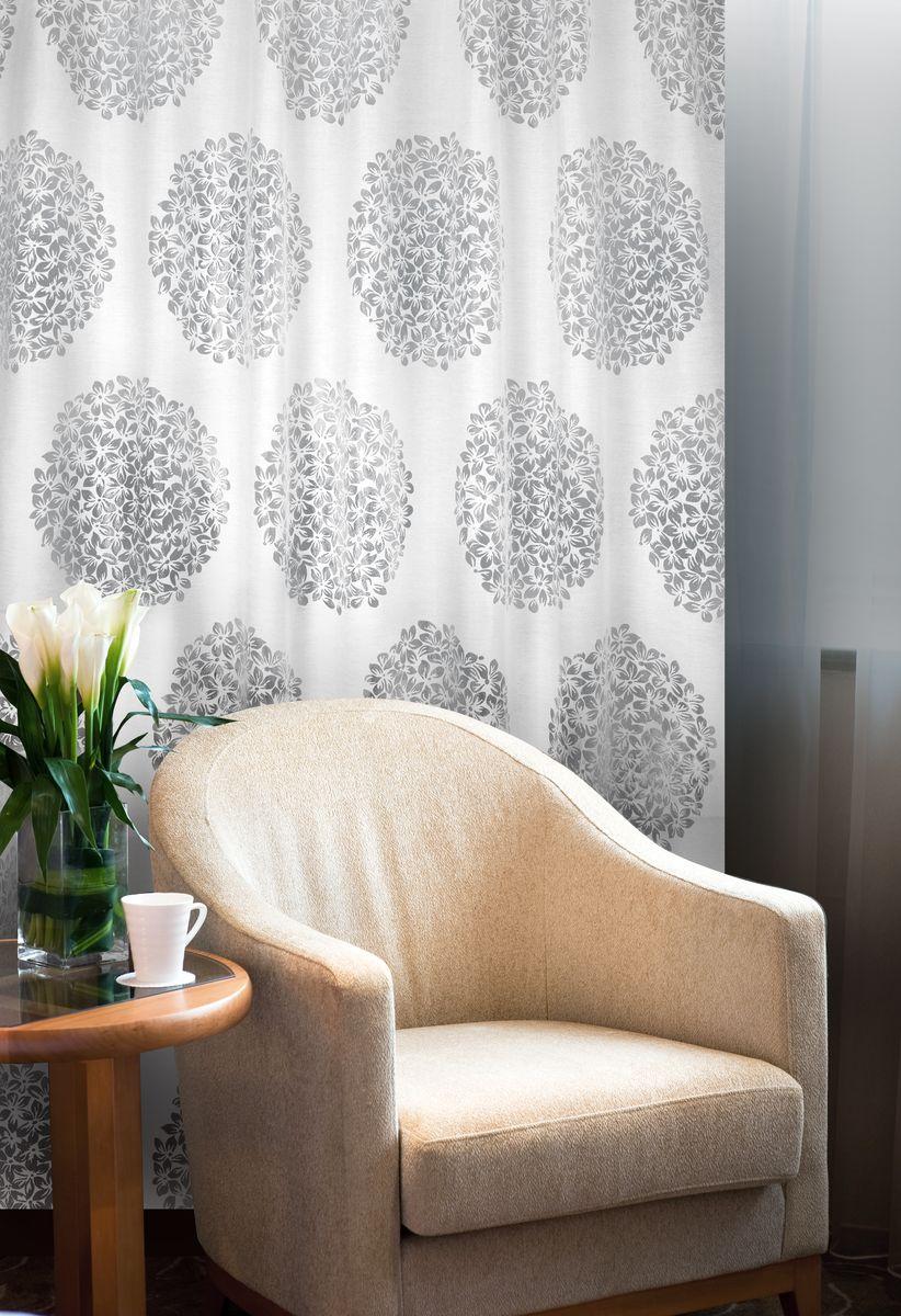 Штора Home Queen Гортензия, на петлях, цвет: слоновая кость, высота 250 см61098Изящная штора Home Queen Гортензия выполнена из 60% полиэстера и 40% вискозы. Штора с приятной фактурой и современным дизайном выполнена в оригинальной технике выжженных волокон burn out. Полупрозрачная ткань и стильный цветочный принт привлекут к себе внимание и органично впишутся в интерьер помещения. Такая штора идеально подходит для солнечных комнат. Мягко рассеивая прямые лучи, она хорошо пропускает дневной свет и защищает от посторонних глаз. Отличное решение для многослойного оформления окон. Эта штора будет долгое время радовать вас и вашу семью! Штора крепится на карниз при помощи петель.