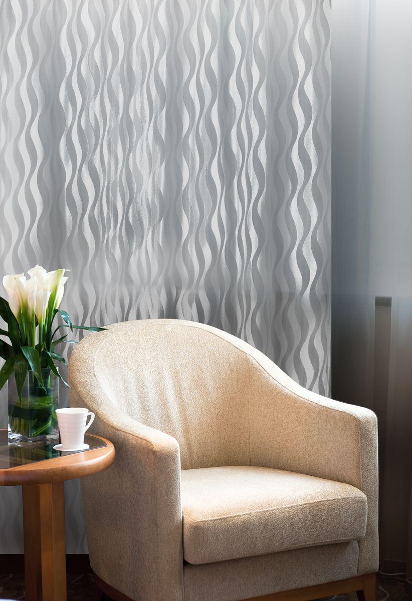 Штора Home Queen Волны, на петлях, цвет: белый, высота 250 см61104Изящная штора Home Queen Волны выполнена из 60% полиэстера и 40% вискозы. Штора с приятной фактурой и современным дизайном выполнена в оригинальной технике выжженных волокон burn out. Полупрозрачная ткань и стильный графический принт привлекут к себе внимание и органично впишутся в интерьер помещения. Такая штора идеально подходит для солнечных комнат. Мягко рассеивая прямые лучи, она хорошо пропускает дневной свет и защищает от посторонних глаз. Отличное решение для многослойного оформления окон. Эта штора будет долгое время радовать вас и вашу семью! Штора крепится на карниз при помощи петель.