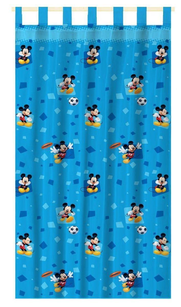 Штора интерьерная Disney Микки Маус, на петлях, высота 280 см64889Штора Disney Микки Маус изготовлена из 100% полиэстера. Она удобна в эксплуатации и проста в уходе. Изделие не деформируется и не теряет яркость нанесенного рисунка. Штора интерьерная Disney Микки Маус с изображением любимого героя украсит детскую комнату и непременно будет радовать вашего ребенка. Крепится на петлях. Рекомендации по уходу: стирать в ручном режиме без использования отбеливающих средств. Химчистка запрещена.