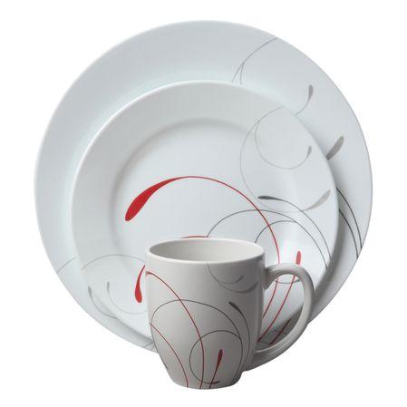Набор посуды Splendor 16пр, цвет: белый с узором1114351Преимуществами посуды Corelle являются долговечность, красота и безопасность в использовании. Вся посуда Corelle изготавливается из высококачественного ударопрочного трехслойного стекла Vitrelle и украшена деколями американских и европейских дизайнеров. Рисунки не стираются и не царапаются, не теряют свою яркость на протяжении многих лет. Посуда Corelle не впитывает запахов и очень долгое время выглядит как новая. Уникальная эмаль, используемая во время декорирования, фактически становится единым целым с поверхностью стекла, что гарантирует долгое сохранение нанесенного рисунка. Еще одним из главных преимуществ посуды Corelle является ее безопасность. В производстве используются только безопасные для пищи пигменты эмали, при производстве посуды не применяется вредный для здоровья человека меламин. Изделия из материала Vitrelle:...