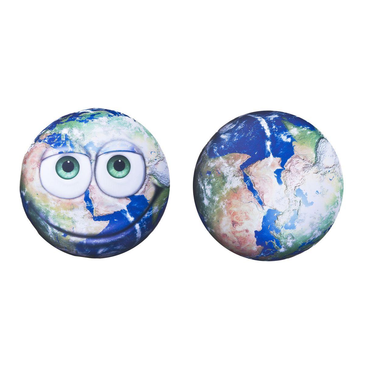 Подушка антистресс круглая Земной шар 30*30см66624Подушка с мягкой пластичной структурой и ярким принтом - это не только антистресс, но и оригинальный аксессуар для интерьера. Отличный подарок для себя и близких.