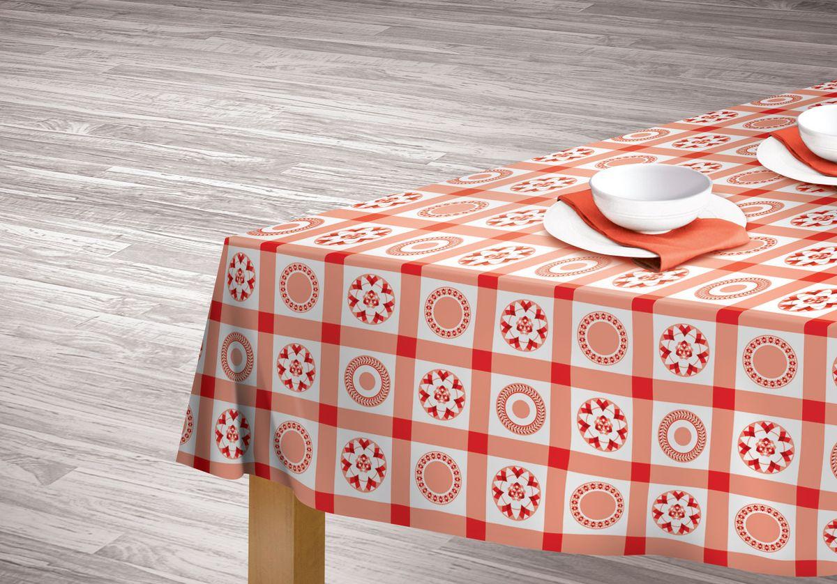 Скатерть Red kitchen 110*140, полиэстер, диз.167407Практичная и красивая скатерть выполнена из гладкого полиэстера, украшена ярким красно-белым принтом. 100% полиэстер