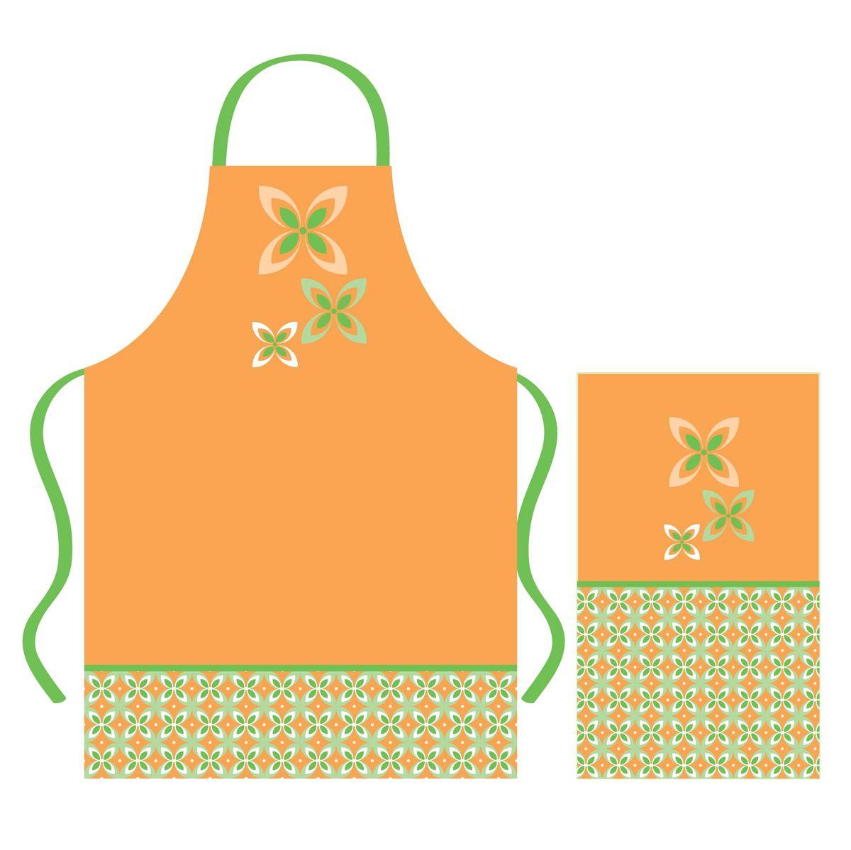 Набор кухонного текстиля Cooking time67420Набор кухонного текстиля выполнен из хлопка и украшен нейтральным бежево-зеленым принтом. 100% хлопок