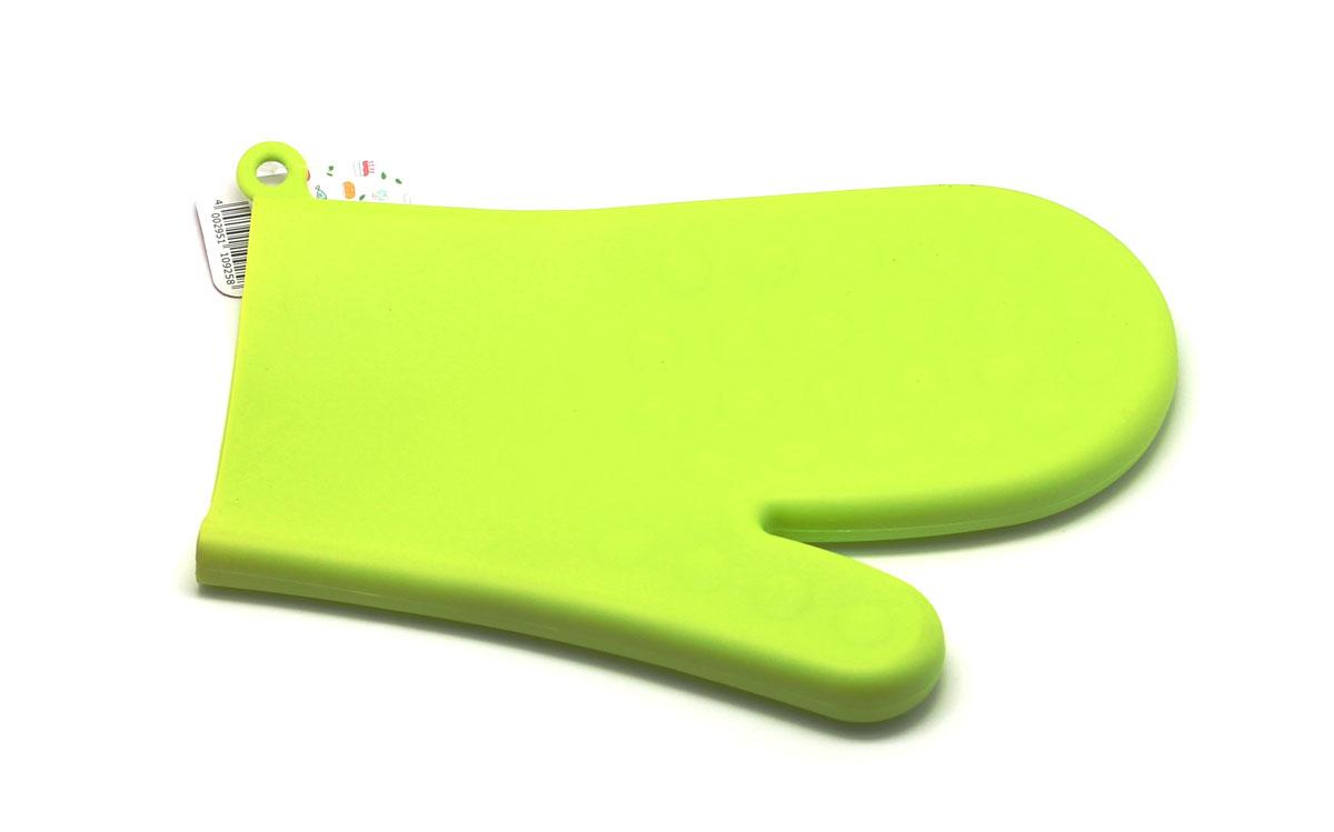 Прихватка-варежка, цвет: зеленыйSC-GL-003-GСиликоновая прихватка-варежка выдерживает до 230°С. Эластична, износостойка, влагонепроницаема, легко моется. Прихваткой можно брать не только горячие, но и холодные предметы, а также влажные и скользкие.