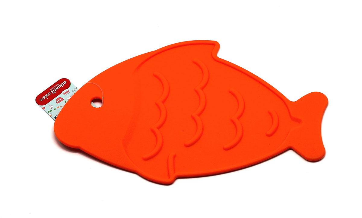 Подставка под горячее Рыба, цвет: оранжевыйSC-MT-013-OПодставка под горячее Рыба, станет незаменимым помощником на кухне. Оригинальный дизайн внесет свежесть и новизну в интерьер вашей кухни. Выдерживает температуру до +230°С, не впитывает запахи и легко моется в посудомоечной машине.