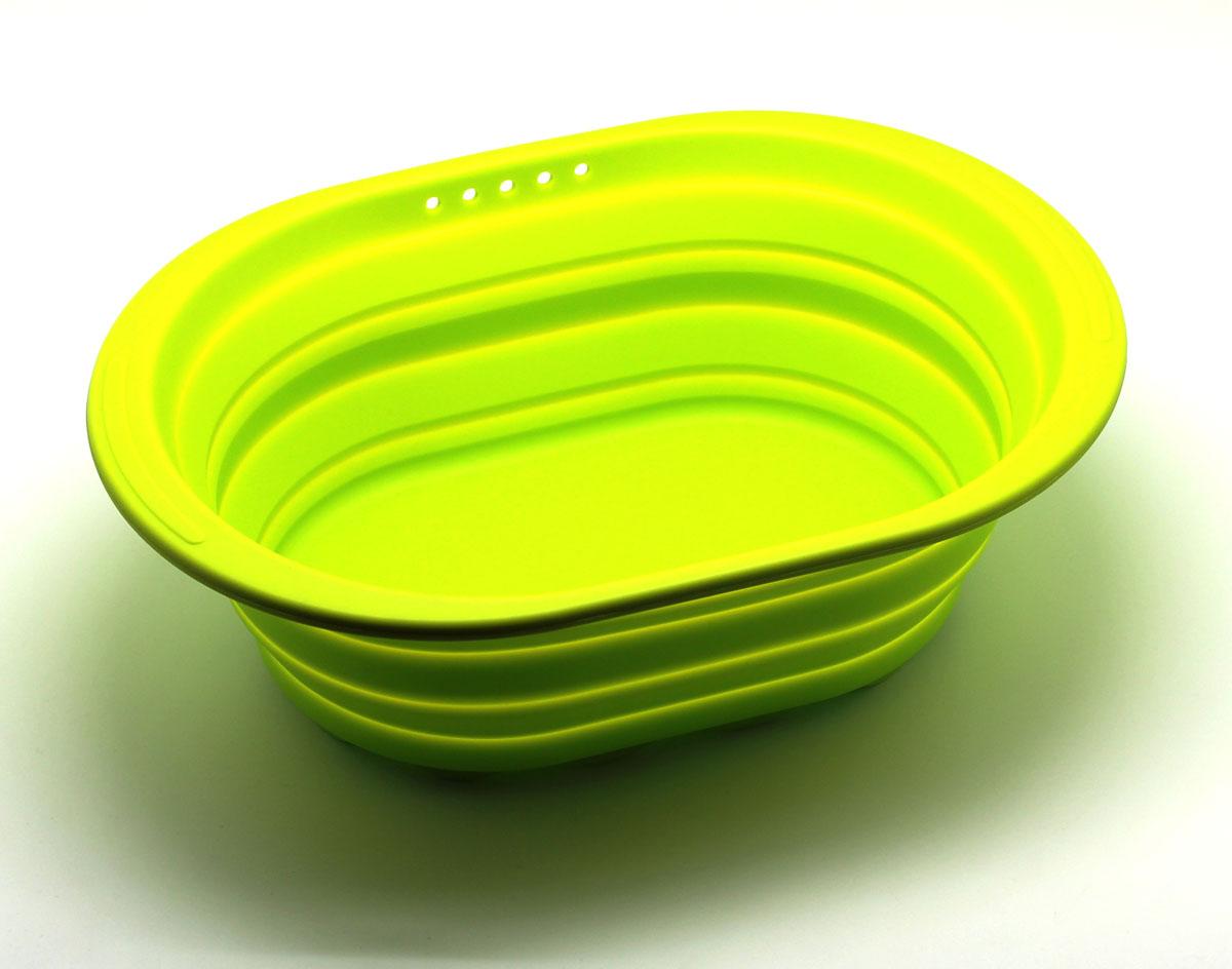 Контейнер складной, цвет: зеленыйSC-SB-017-GСиликоновый контейнер прекрасно подходит к хранению и транспортировке пищевых продуктов. Выполнен из 100% силикона – экологичного материала, который не взаимодействует с пищей. Контейнер занимает мало места, легкий, не впитывает запахи. Благодаря уникальной конструкции, в сложенном виде занимает мало места и легко помещается в любой ящик или полку.