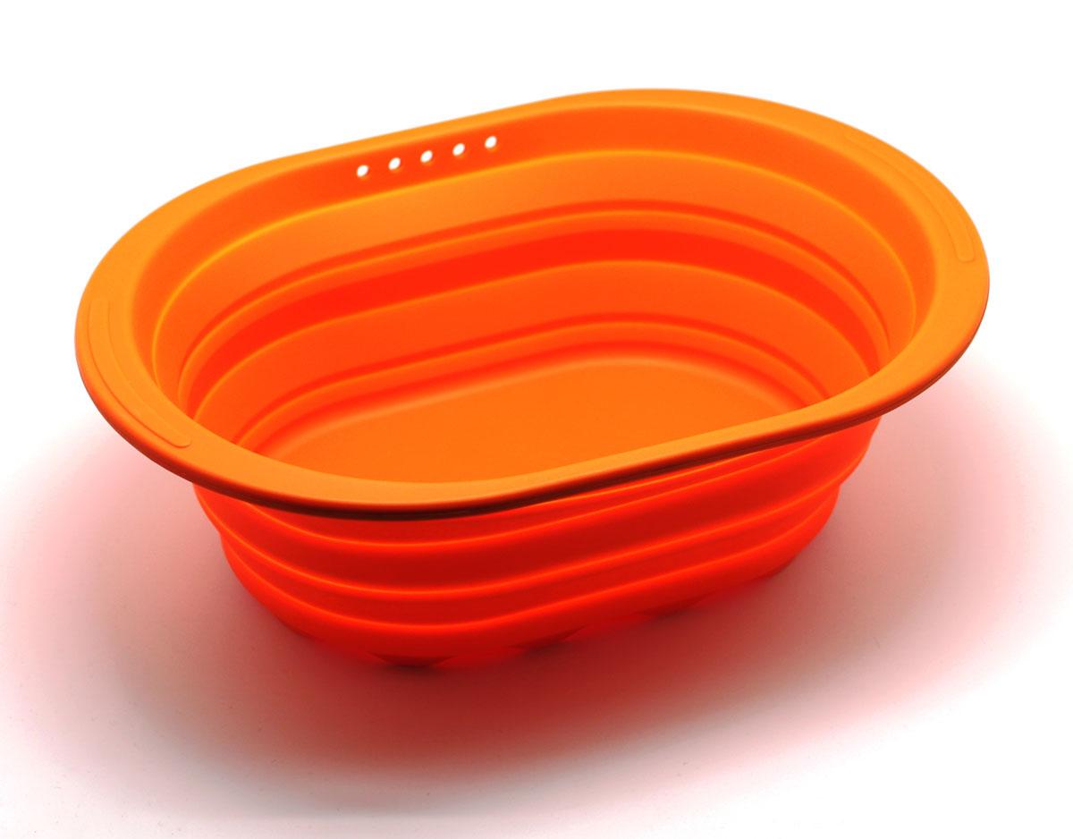 Контейнер складной, цвет: оранжевыйSC-SB-017-OСиликоновый контейнер прекрасно подходит к хранению и транспортировке пищевых продуктов. Выполнен из 100% силикона – экологичного материала, который не взаимодействует с пищей. Контейнер занимает мало места, легкий, не впитывает запахи. Благодаря уникальной конструкции, в сложенном виде занимает мало места и легко помещается в любой ящик или полку.