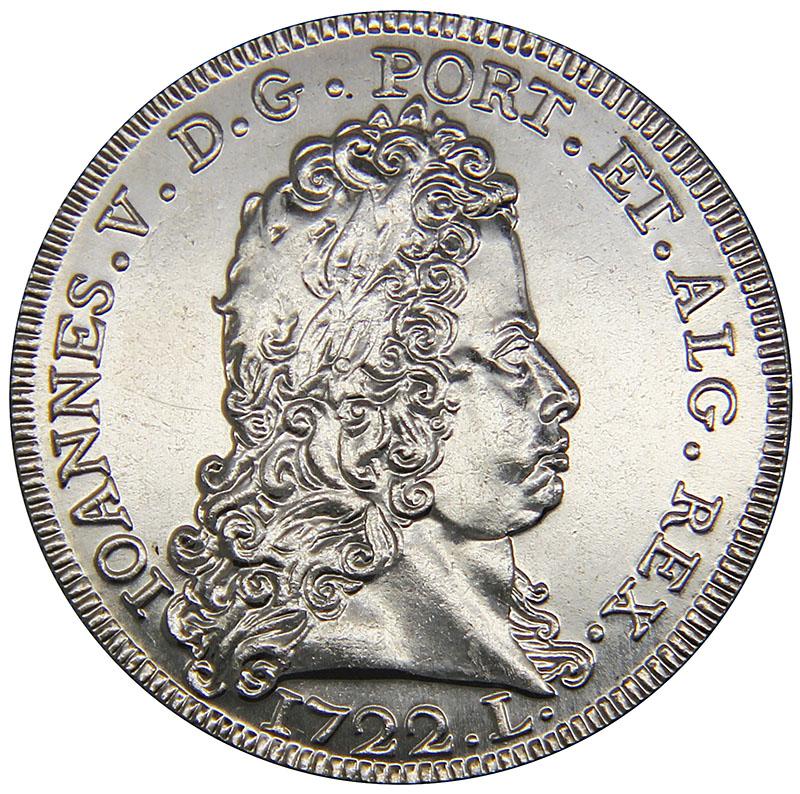 Монета номиналом 5 евро Песа 1722 года короля Жуана V. Португалия, 2012 год304329Металл: Cu/Ni Диаметр: 30 мм Масса: 14,0 г Состояние: UNC (без обращения)