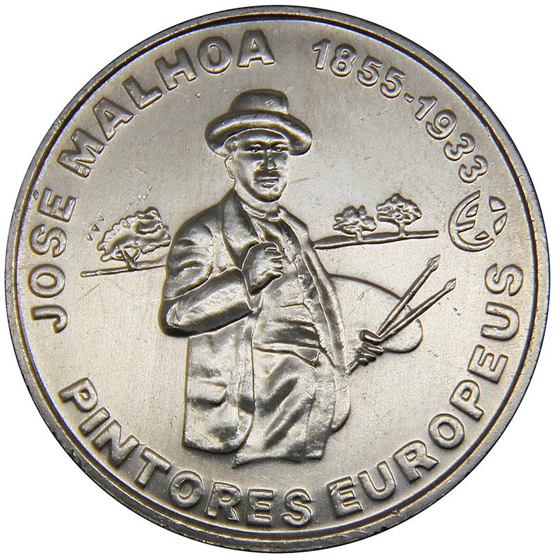 Монета номиналом 2,5 евро Жозе Мальоа. Португалия, 2012 год304329Металл: Cu-Ni Диаметр: 28 мм Масса: 10,0 г Состояние: UNC
