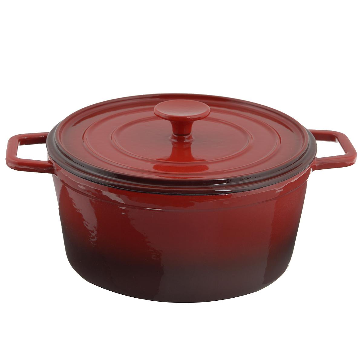 Кастрюля Mayer & Boch с крышкой, с эмалевым покрытием, 5 л22049Кастрюля Mayer & Boch, изготовленная из чугуна, идеально подходит для приготовления вкусных тушеных блюд. Она имеет внутреннее стекловидное эмалевое покрытие. Чугун является традиционным высокопрочным, экологически чистым материалом. Причем, чем дольше и чаще вы пользуетесь этой посудой, тем лучше становятся ее свойства. Высокая теплоемкость чугуна позволяет ему сильно нагреваться и медленно остывать, а это в свою очередь обеспечивает равномерное приготовление пищи. Чугун не вступает в какие-либо химические реакции с пищей в процессе приготовления и хранения, а плотное покрытие - безупречное препятствие для бактерий и запахов. Пища, приготовленная в чугунной посуде, благодаря экологической чистоте материала не может нанести вред здоровью человека. Кастрюля оснащена двумя удобными ручками. Крышка изготовлена из чугуна. Она плотно прилегает к краю казана, сохраняя аромат блюд. Можно использовать в духовом шкафу. Нельзя мыть в посудомоечной машине. Высота стенки: 12 см. ...