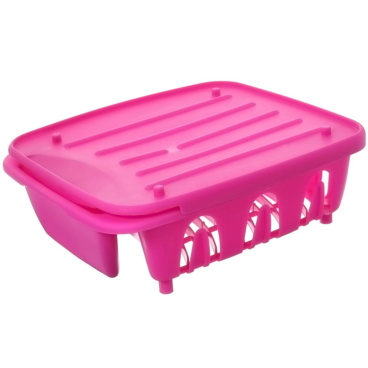 Сушилка для посуды Dommix, цвет: розовый, 35,5 х 31 х 13 см154EDСушилка для посуды Dommix, выполненная из высококачественного пластика, представляет собой подставку с ячейками, в которые помещается посуда, и отделением для столовых приборов. Сушилка оснащена пластиковым поддон для сливания в него воды Ваши тарелки высохнут быстро, если после мойки вы поместите их в легкую, яркую, современную пластиковую сушилку. Сушилка для посуды Dommix станет незаменимым атрибутом на вашей кухне.