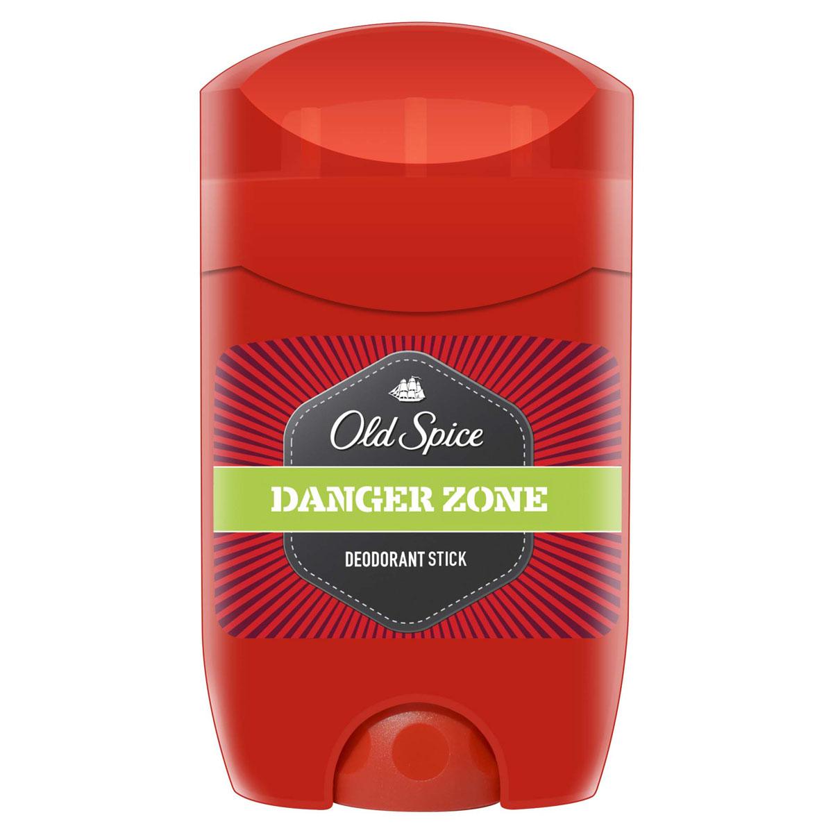 Old Spice Дезодорант-стик Danger Zone, 50 млOS-81321212Дезодорант Old Spice Danger Zone с дурманящим запахом заставит вас чувствовать себя смелее Робин Гуда на соревнованиях по стрельбе из лука. Великолепный аромат и надежная защита.