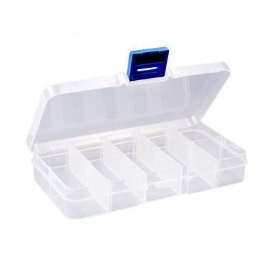 Органайзер для бисера Белоснежка, 10 секций. BO-102BO-102Органайзер для бисера изготовлен из прозрачного пластика, что позволяет видеть содержимое. Внутри содержится регулируемые ячейки для хранения бисера. Крышка плотно закрывается на два замка-защелки. Такой контейнер поможет держать бисер в порядке.