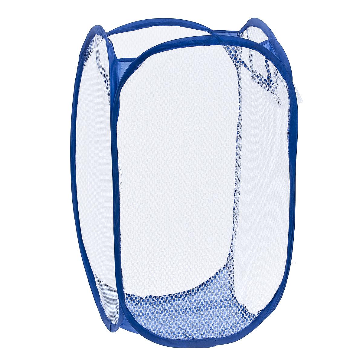 Корзина для белья Fresh Code, складная, 30 см х 30 см х 51 см50832Корзина для белья Fresh Code изготовлена из полипропилена и металла и предназначена для сбора и хранения вещей перед стиркой. Компактная и легкая складная корзина не занимает много места, аккуратно хранит белье, украшает ванную комнату. Вместительная корзина выполнена в форме куба. Сверху имеются ручки для переноски корзины. С четырех сторон корзина выполнена из сетки, для вентиляции белья. Сбоку имеется карман. Корзина для белья Fresh Code станет оригинальным украшением интерьера ванной комнаты.
