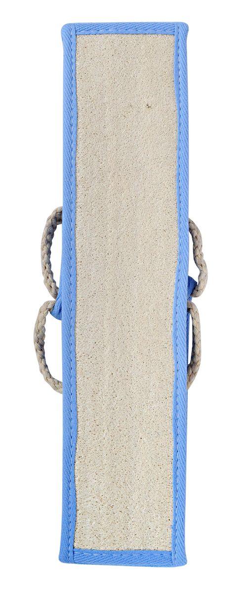 Мочалка Home Queen, из люфы, с ручками, цвет: голубой, 90 х 8 см50839Мочалка Home Queen, изготовленная из люфы, прекрасно очищает и массирует кожу, улучшает циркуляцию крови и обмен веществ. Обладает эффектом скраба - мягко отшелушивает верхний слой эпидермиса, стимулируя рост новых, молодых клеток, делает кожу здоровой и красивой. Изделие оснащено двумя ручками для более удобного использования. Подходит для ежедневного использования.