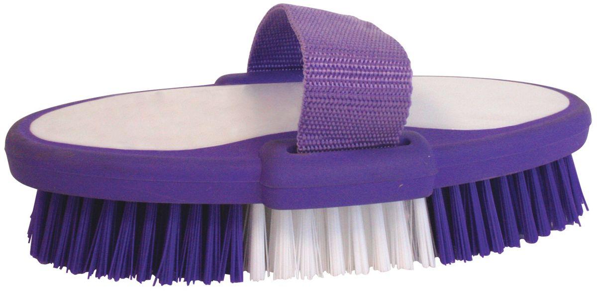 Еврощетка Home Queen, с ремешком, цвет: белый, фиолетовый52074Еврощетка Home Queen, выполненная из полипропилена и нейлона, является универсальной щеткой для любых поверхностей, эффективно очищающей загрязнения. Оснащена удобным текстильным ремешком. Размер: 19 см х 10 см х 5 см. Длина ворсинок: 3 см. Высота ремешка: 5 см.