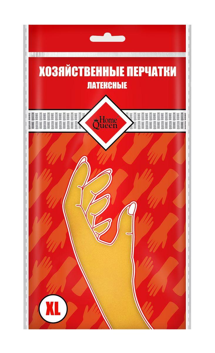 Перчатки латексные Home Queen. Размер XL. 5373253732Перчатки Home Queen защитят ваши руки от воздействия бытовой химии и грязи. Подойдут для всех видов хозяйственных работ. Выполнены из латекса.