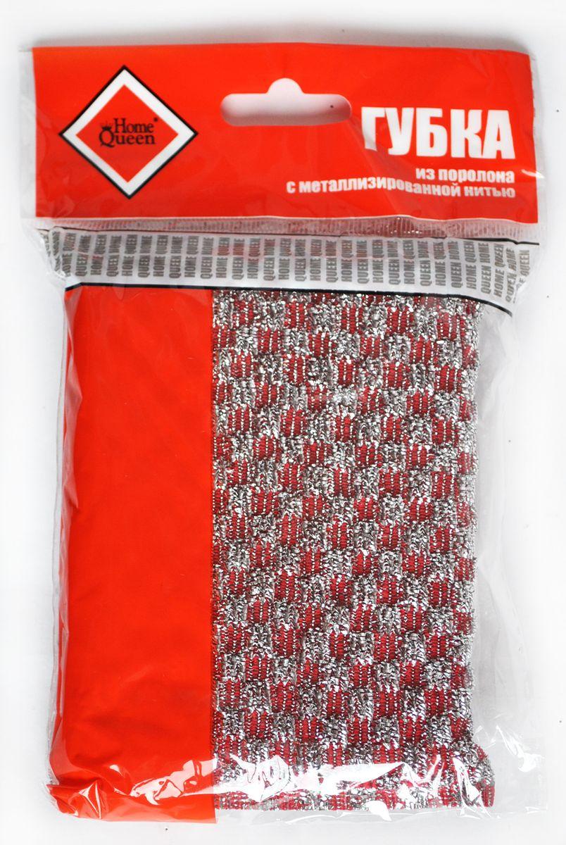 Губка для мытья посуды Home Queen, с металлизированной нитью, цвет: красный39Губка для мытья посуды Home Queen изготовлена из поролона в чехле из полипропиленовой металлизированной нити. Предназначена для мытья посуды и очистки сильно загрязненных кухонных поверхностей. Удобна в применении. Позволяет экономить моющее средство, благодаря структуре поролона, который дает много пены при использовании. Материал: полипропиленовая металлизированная нить, поролон.