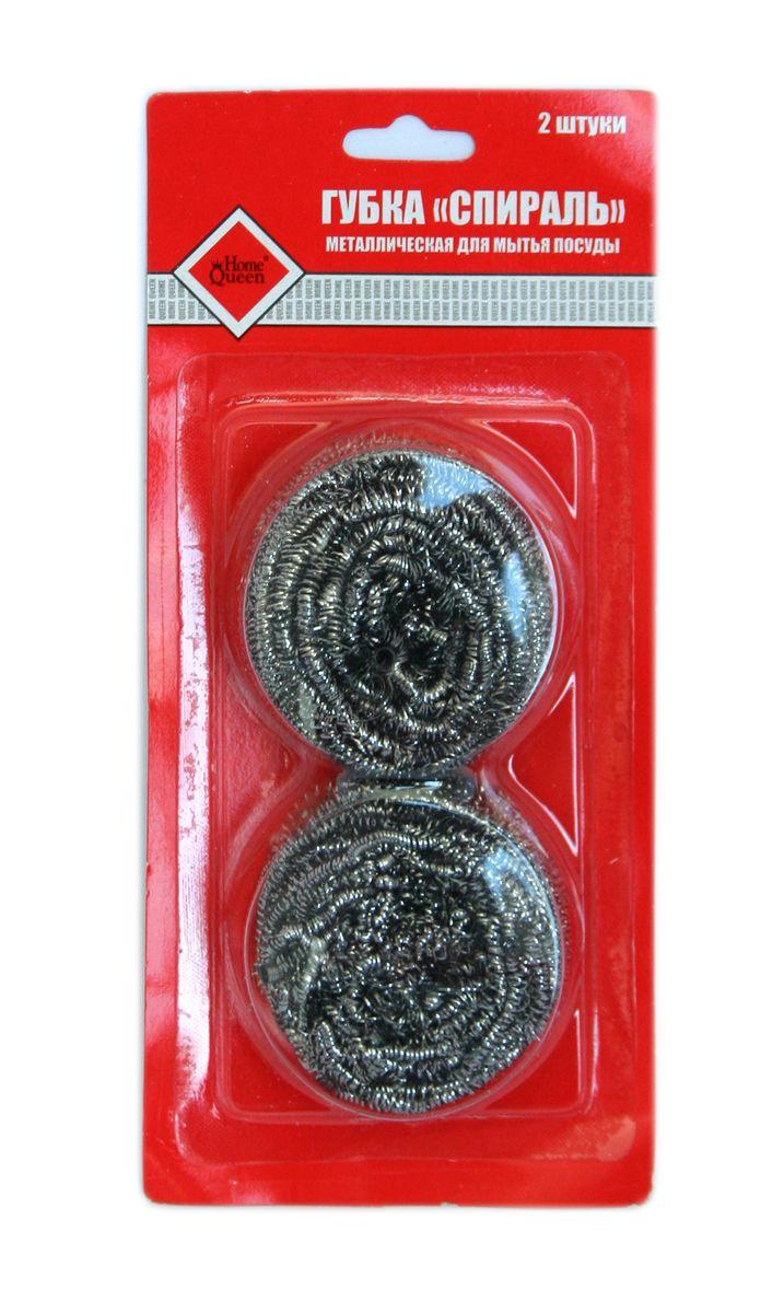Губка для мытья посуды Home Queen Спираль, металлическая, 2 шт40Губка для мытья посуды Home Queen Спираль изготовлена из коррозионностойкого стального волокна. Предназначена для мытья посуды, чистки раковин и других сильно загрязненных поверхностей. Легко удаляет сажу, пригар, копоть и другие сильные загрязнения. Удобна в применении. Размер губки: 6 см х 6 см х 3 см. Комплектация: 2 шт.