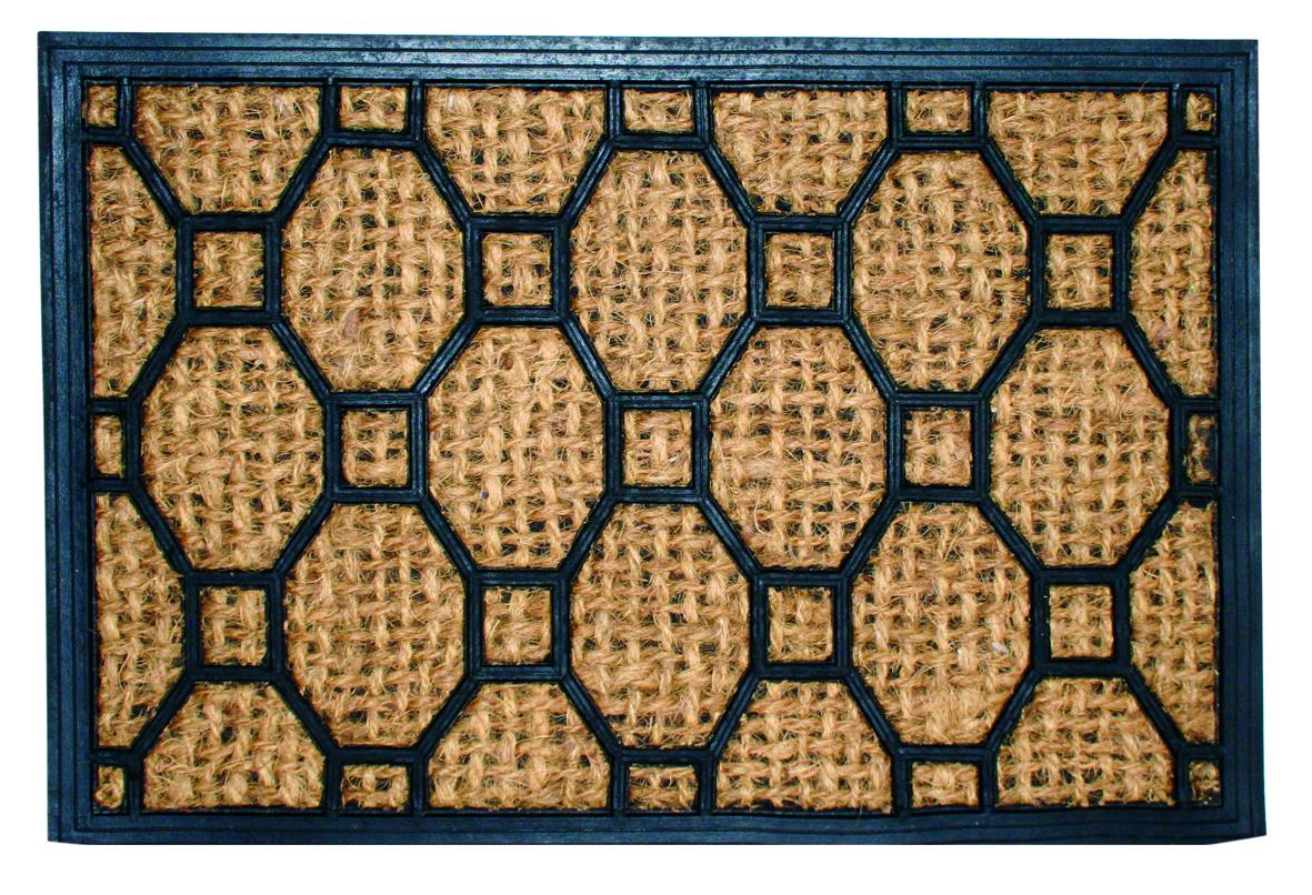 Коврик дверной Home Queen, 40 см х 60 см57019Этот оригинальный дверной коврик Home Queen, изготовленный из кокосового волокна и резины, первым встретит вас и гостей у дверей дома. Долговечные свойства кокосового волокна позволяют хорошо впитывать влагу и запах. Коврик дверной Home Queen сохранит ваш пол чистым от уличной грязи, а оригинальный дизайн украсит дом. УВАЖАЕМЫЕ КЛИЕНТЫ! Обращаем ваше внимание на дизайн товара. Поставка осуществляется в зависимости от наличия на складе.